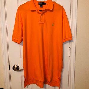 Vintage Men's Ralph Lauren Orange Polo wGreen Pony